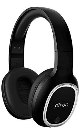 pTron Studio Over-Ear Bluetooth 5.0 Wireless Headphones